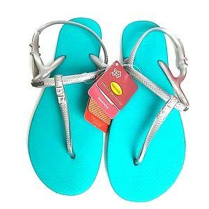 Havaianas Sandals T-strap Swarovski embelished